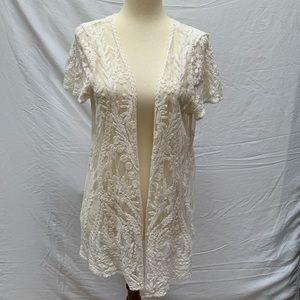 EUC. Pixley, ivory colored top. Size - M